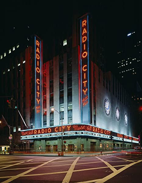 Amazon.com: Fotografía Cartel – Radio City Music salón Nueva ...