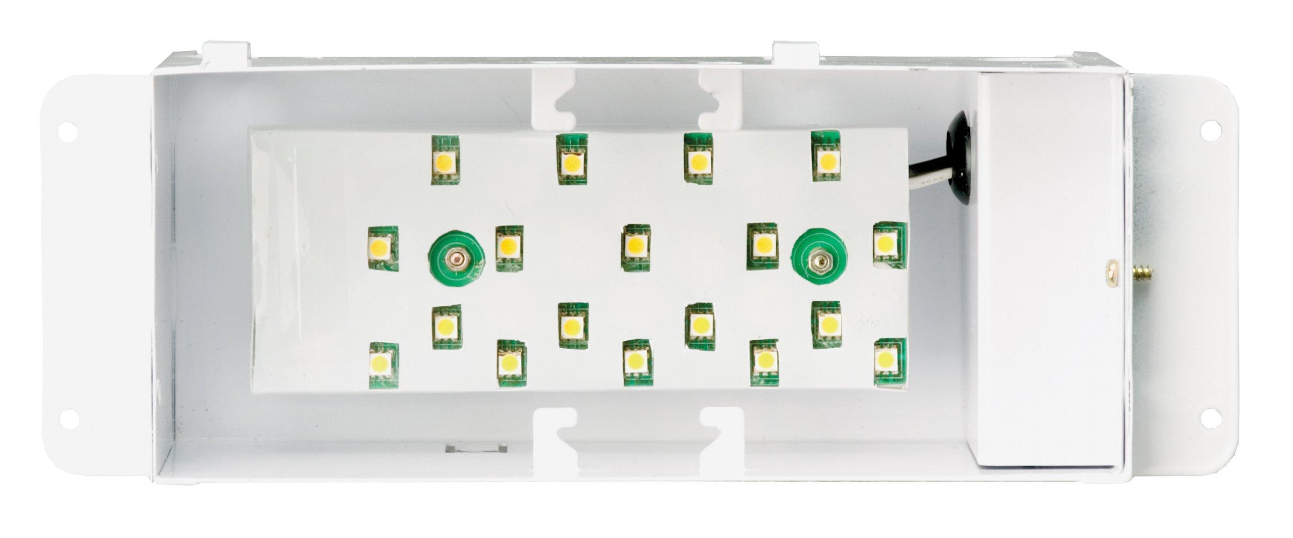 NICOR Lighting 10-Inch 3000K 18-LED Step Light Housing (15803L)