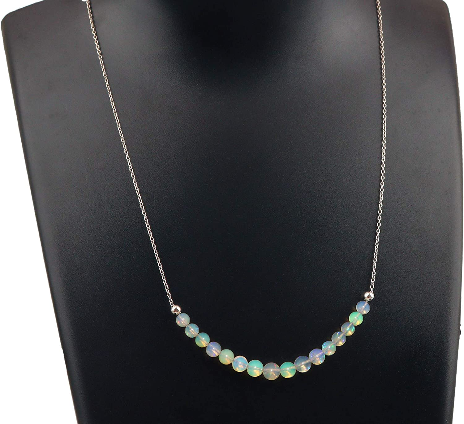 Black Ethiopian Opal lariat necklace Graduation gift October birthstone gifts gold filled chain and Black Opal beads Modern Y necklace