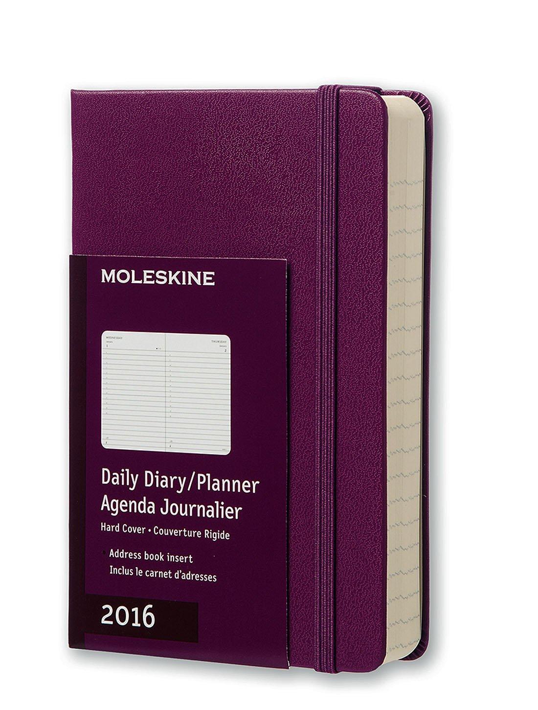 Amazon.com: Moleskine 2016 Daily Planner, 12M, Pocket, Mauve ...