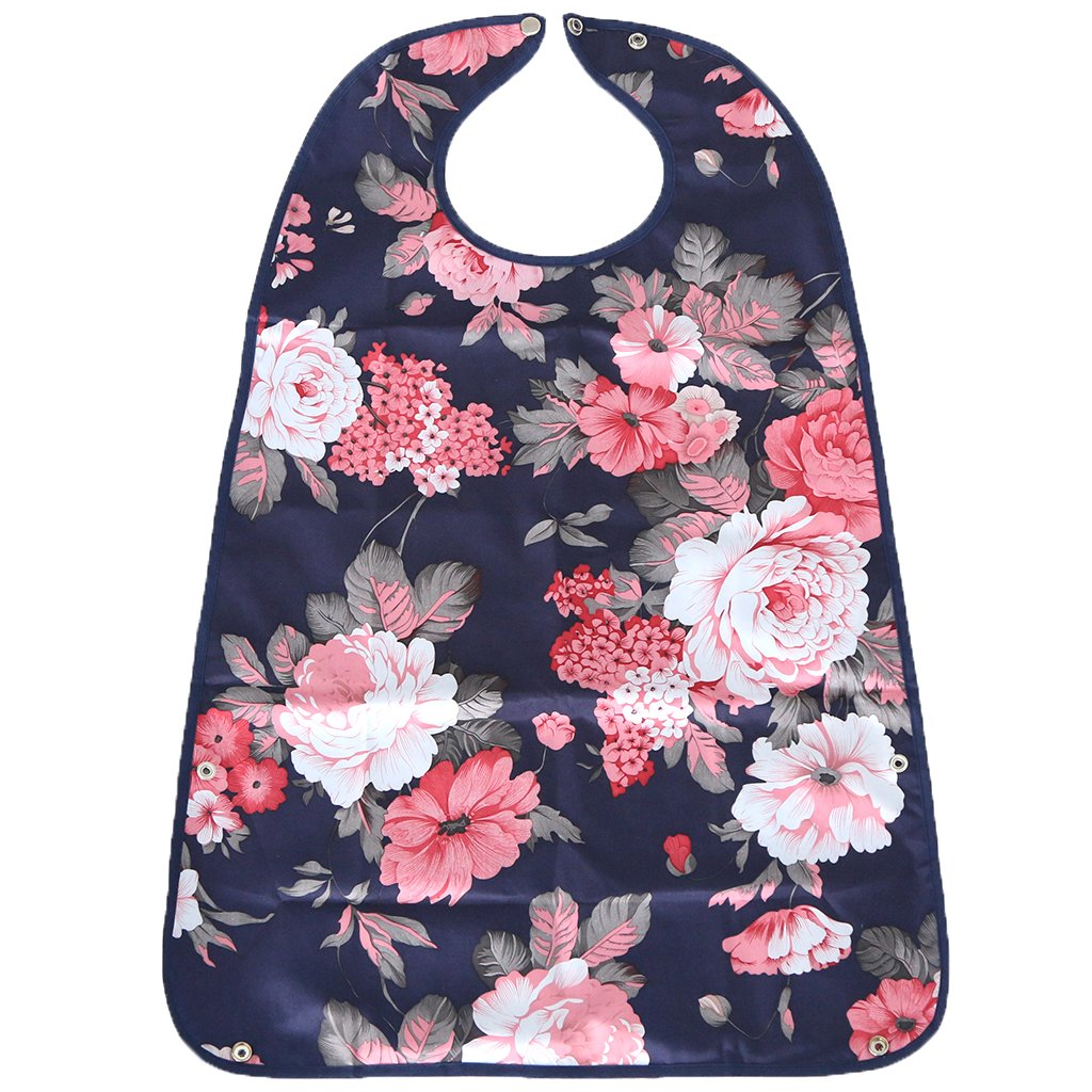 Dovewill Large Waterproof Adult Mealtime Bib Disability Aid Clothes Protector Cook Dining Apron with Pocket - one size, 9
