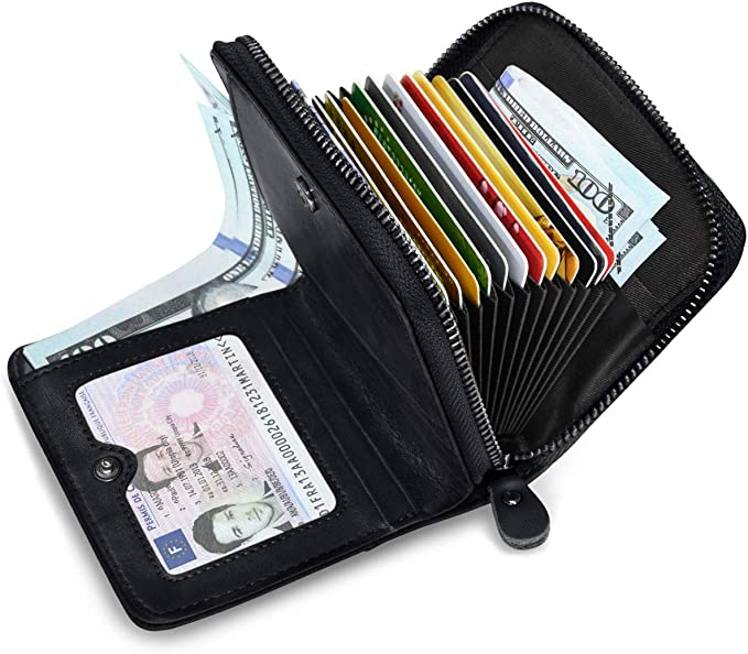 Amazon.com: HUANLANG - Billetera para hombre con bloqueo ...