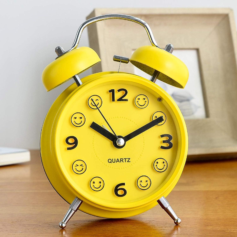 Warm Heart Chevet Mode Simple Paresseux Super Fort Réveil Créatif Table D'Alarme Étudiant Veilleuse Réveil Muet