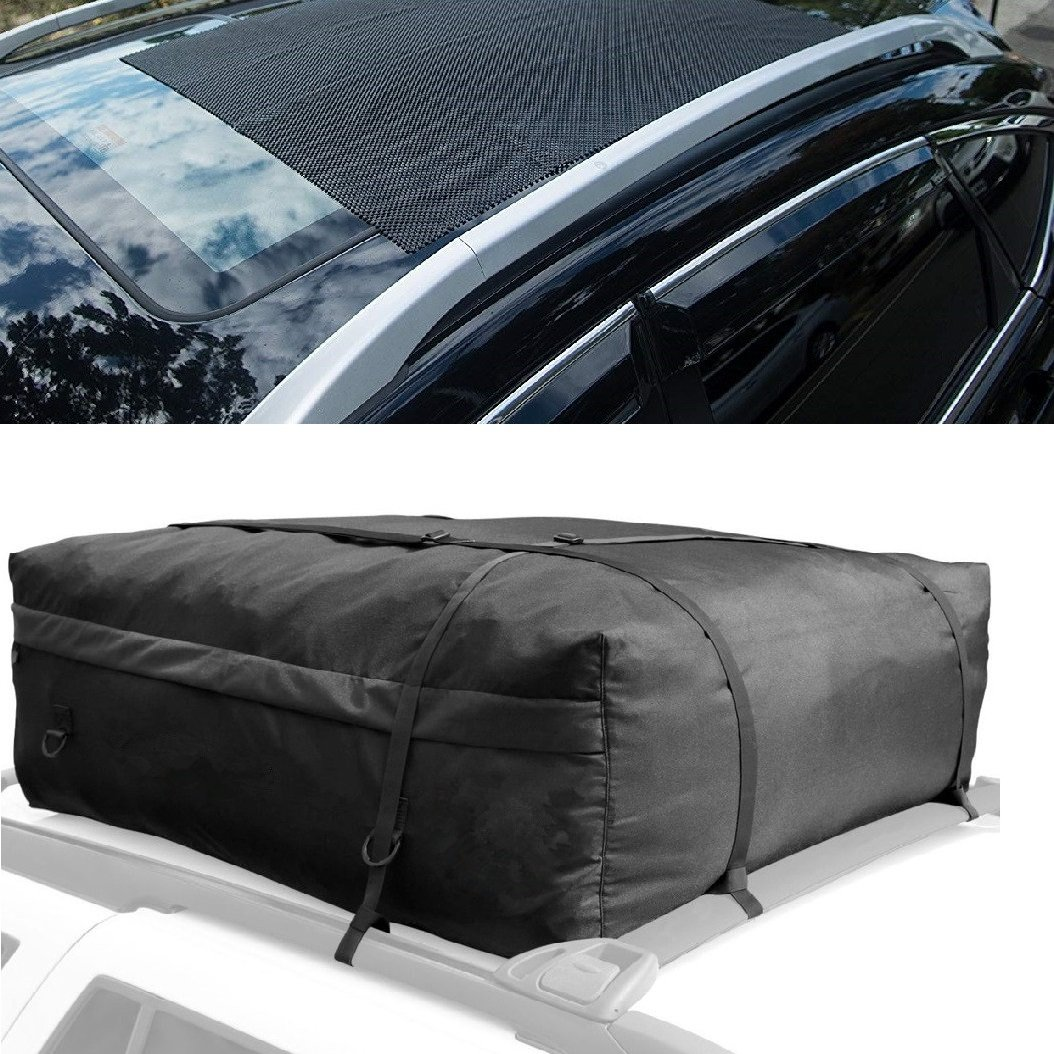 Non-Slip Roof Rack Pad Work with Roof Rack Crossbar Basket Roof Box Bag Luggage Carrier for Truck SUV Car Van Sedan ONEST Car Roof Cargo Carrier Protective Mat 39x36