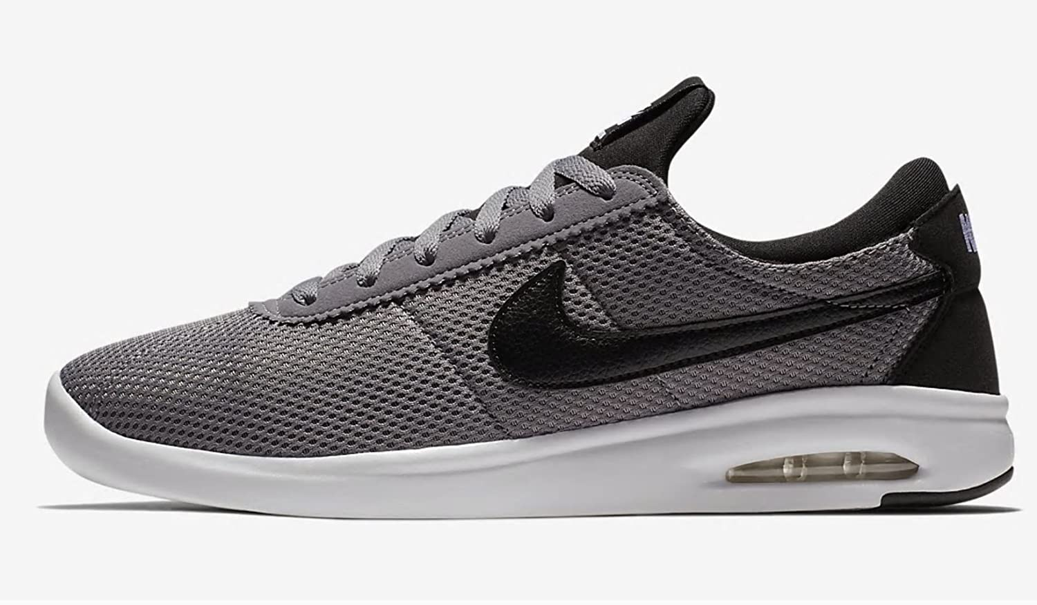 NIKE Men's SB Air Max Bruin Vapor Skate Shoe 11 D(M) US|Gunsmoke/Black-black-white