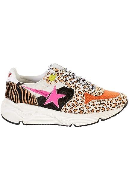 GOLDEN GOOSE G34WS963C9 Mujer Leopardo Cuero Zapatillas: Amazon.es: Zapatos y complementos