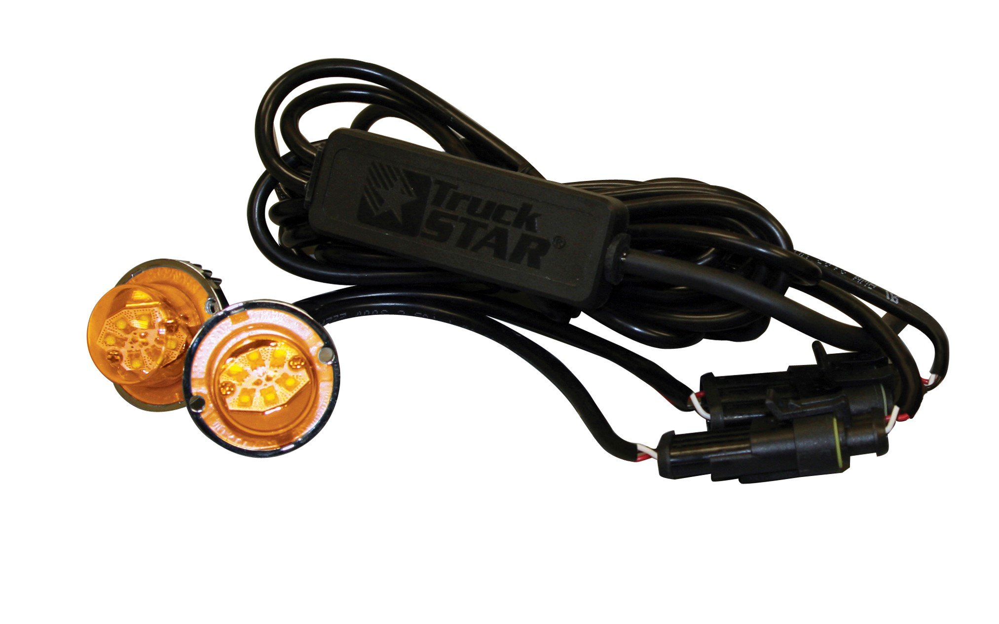 Buyers Products 8891227 Amber/Clear 6 LED Strobe Light