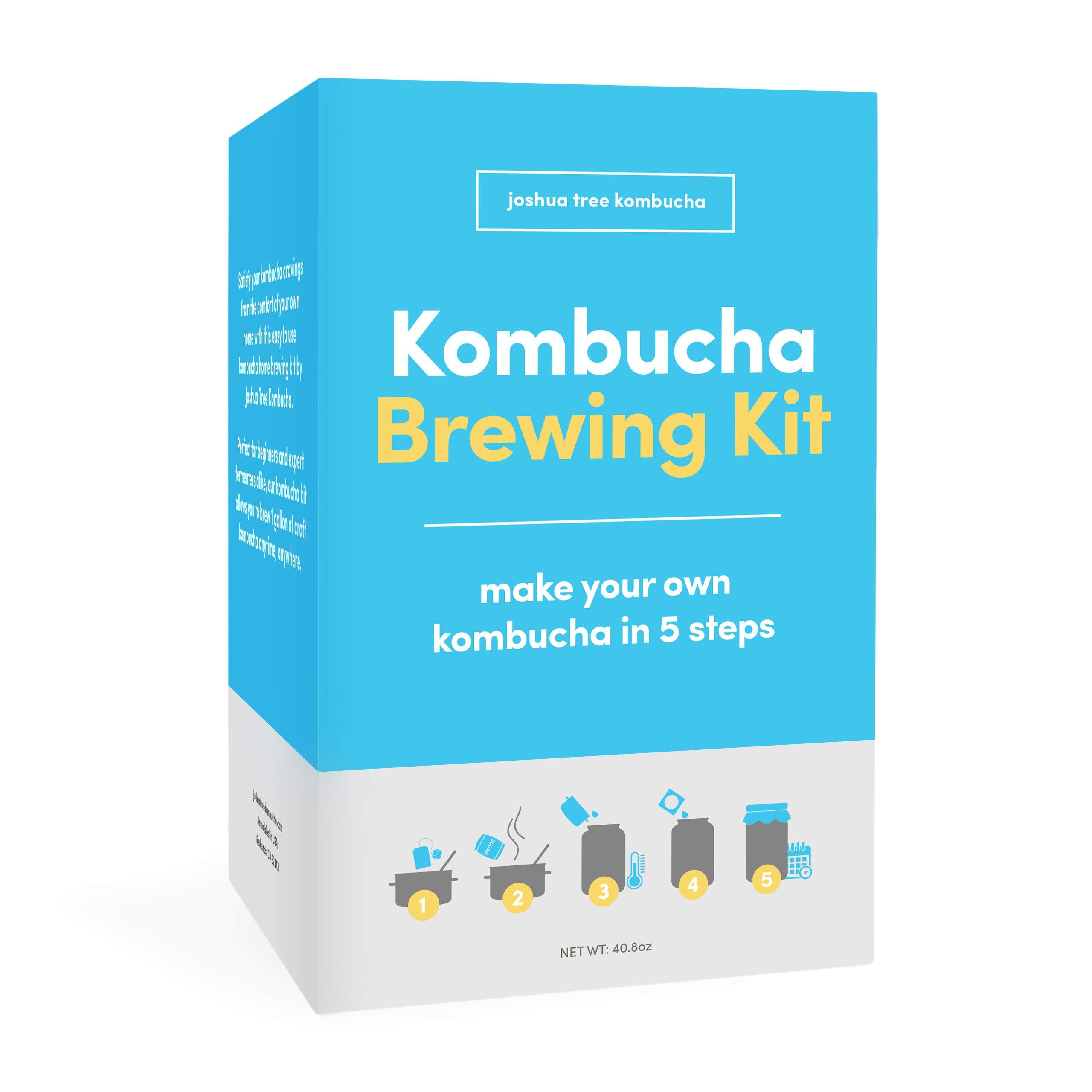 Kombucha Brewing Kit with Kombucha Scoby (Starter) by Joshua Tree Kombucha