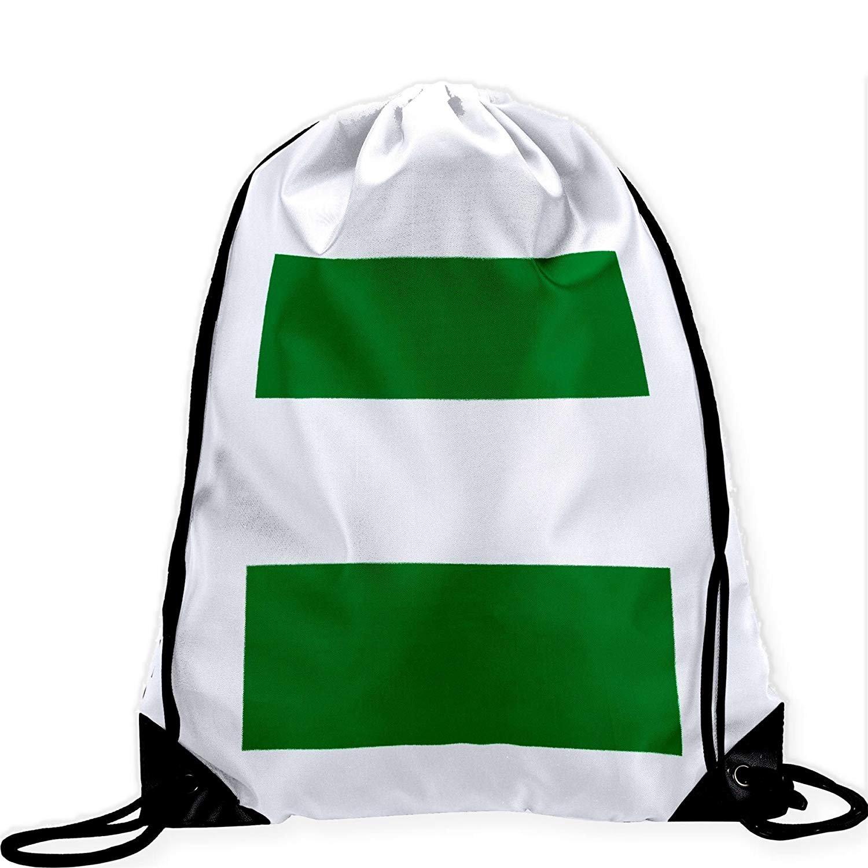 Large Drawstring Bag with Flag of Nigeria - Many Designs - Long lasting vibrant image