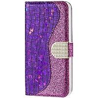 WJMWF Compatible con Funda Samsung Galaxy A42 5G Glitter PU Cuero Flip Billetera Case Cierre Magnético con Ranura para…