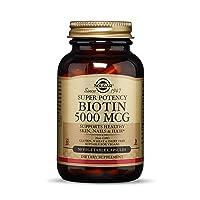 Solgar Biotin 5000 mcg, 50 Vegetable Capsules - Supports Healthy Skin, Nails & Hair...