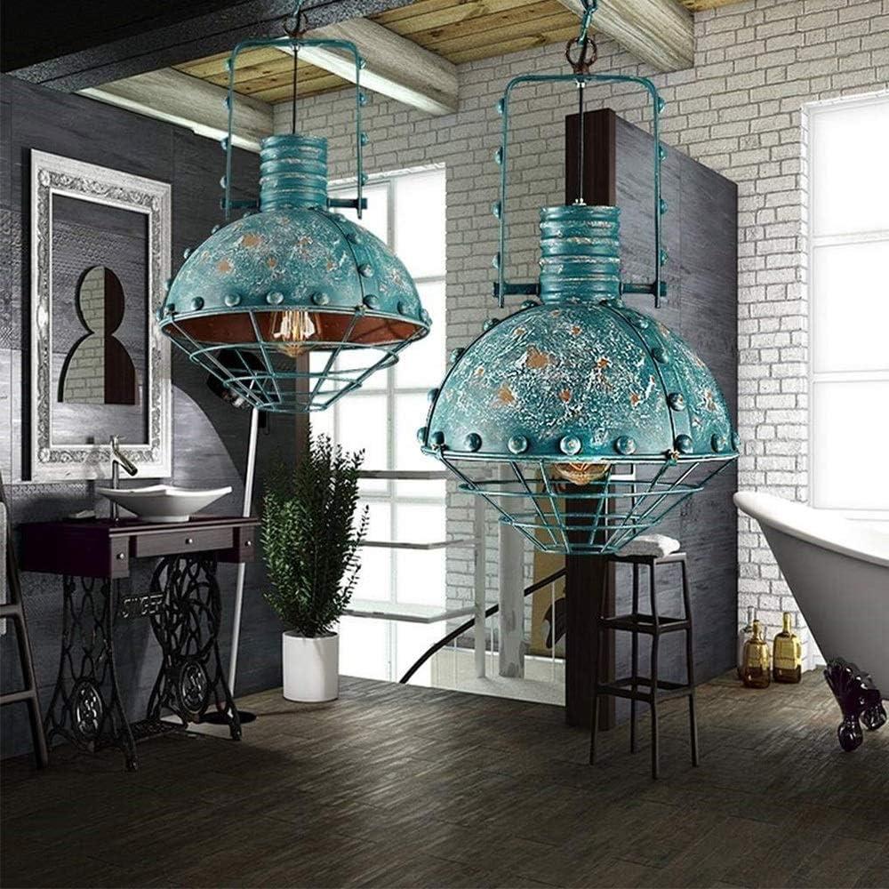 Brillante Luces Colgantes Vintage Industriales Red De Hierro Verde ...