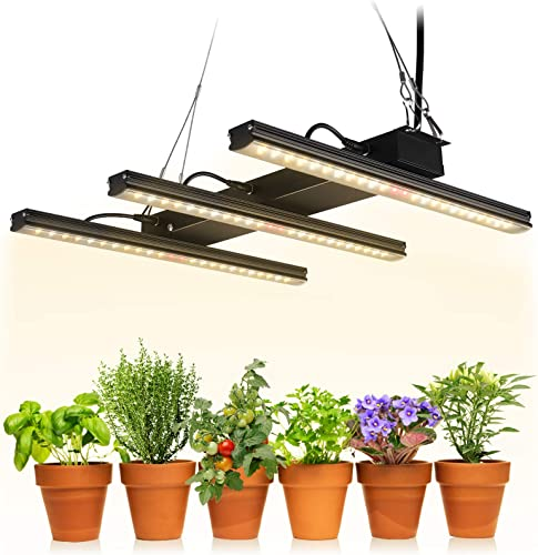 TORCHSTAR LED Grow Light Fixture Kit, Integrated Grow Light Strips, sunlike Plants Lights, Linkable Plant Growing Lamp Full Spectrum for Indoor Garden, Houseplants, Vegetable, Flower, 3-Year Warranty