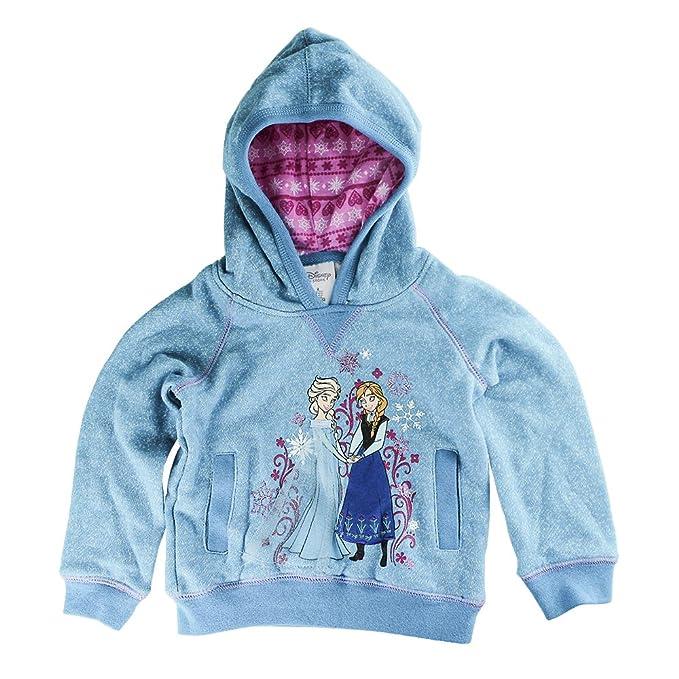 Tienda Anna and Elsa Pullover sudadera con capucha para ni?as - Frozen Blue - Talla 2: Amazon.es: Ropa y accesorios