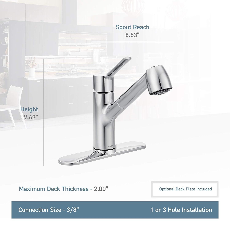 Moen 7585c Method One Handle Pullout Kitchen Faucet Chrome Parts Diagram For Gourmet Single 150 450