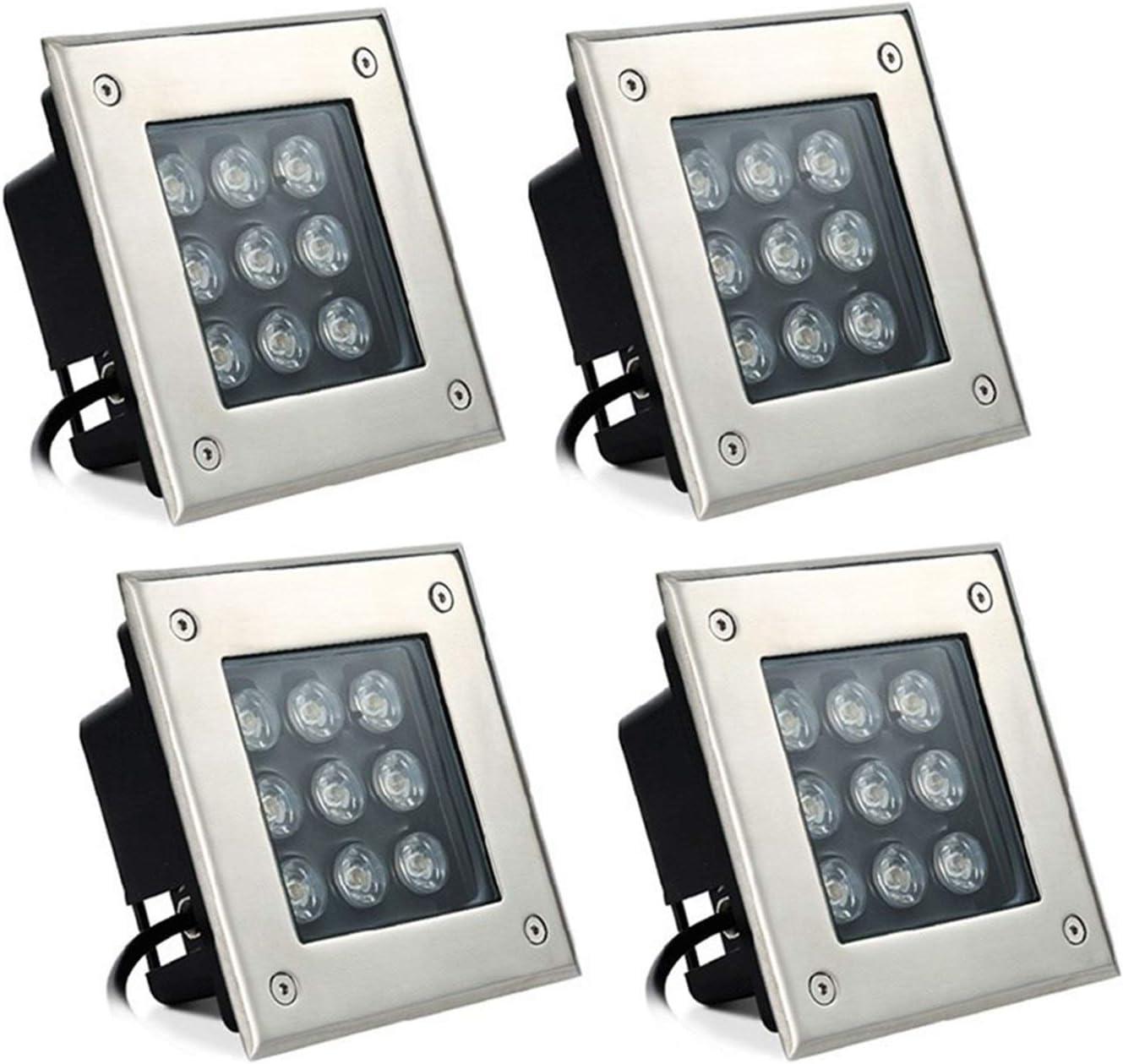 AMDHZ Foco Empotrable de Suelo LED Focos Exterior Led Ingenieria IP65 AC220V 6W 560LM Rectángulo Incrustado Destacar Césped Patio Aclarar Decoración (Color : C, Size : 16W)