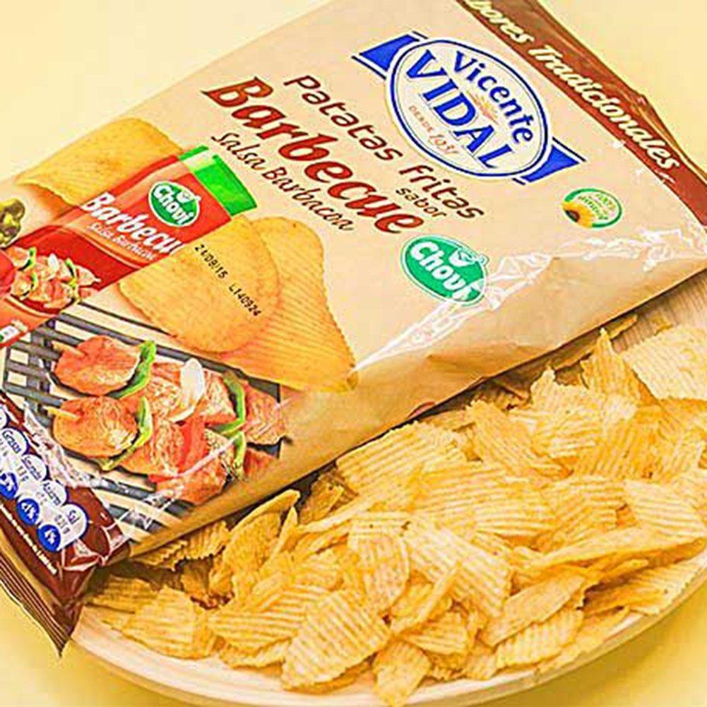 Patatas Fritas Vicente Vidal Onduladas Sabor Barbecue Salsa Barbacoa Chovi Bolsa 135Grs: Amazon.es: Alimentación y bebidas