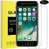 iPhone 7 pour Protection écran, DOSMUNG Verre Trempé pour iPhone 7 Film Protection -Ultra Résistant et Transparent- Anti Poussière, étanche, Sans Bulles
