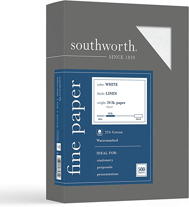 The Best Southworth Pink Linen Office Paper