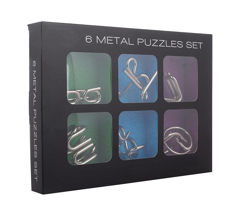 Buy Shopaholic Braintwister 6 Metal Puzzle set for kids/teenagers ...