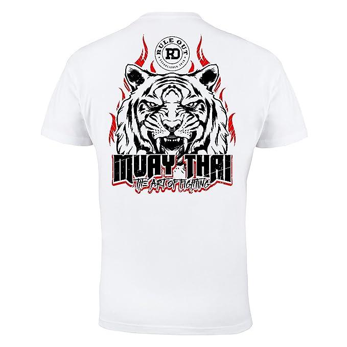 Regla Fuera Camiseta Ropa de lucha. Muay Thai The Art of fighting. Gimnasio Entrenamiento MMA Informal Desgaste - Blanco, XX-Large: Amazon.es: Ropa y ...