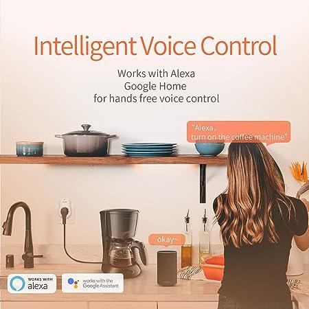 Tenda Beli SP3 Enchufe Inteligente Wi-Fi, sin Necesidad de Hub, para controlar Sus Dispositivos Desde Cualquier Lugar, Funciona con Amazon Alexa Echo y Google Home, Diseño de Seguridad para Niños: Amazon.es: Bricolaje