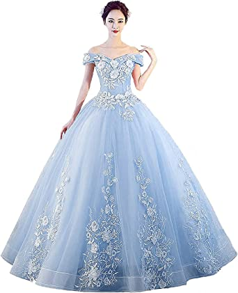 Amazon Com Lejy Women S Off The Shoulder Dress Masquerade Ball Gowns Prom Dress Clothing