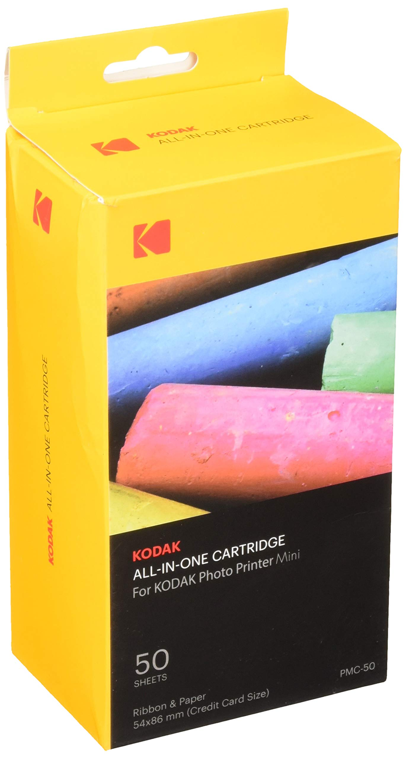 Kodak Mini Photo Printer Cartridge PMC - All-in-One Paper & Color Ink Cartridge Refill - 50 Pack (Compatible ONLY with Original MINI Printer, NOT Mini2, Mini Shot)