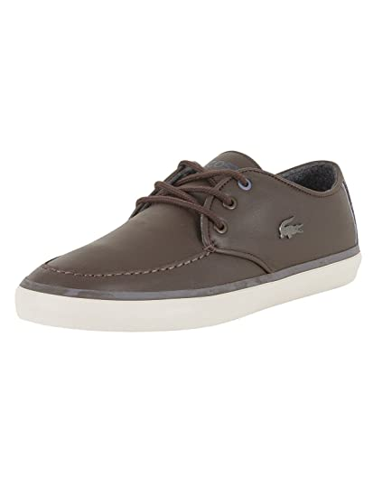 Lacoste Men's Sevrin 417 1 CAM Leather Trainers, Brown, 7 UK