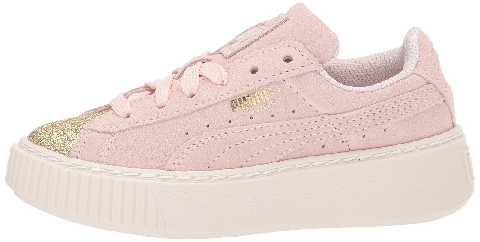 PUMA Kids' Suede Platform Glam Sneaker Pink 36492207 - 5