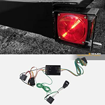 Amazon.com: Stehlen 642167819370 Trailer Tow Hitch 4 Way Flat Wiring Harness  T-Connector For 2007-2012 Dodge Nitro / 2008-2012 Jeep Liberty: AutomotiveAmazon.com