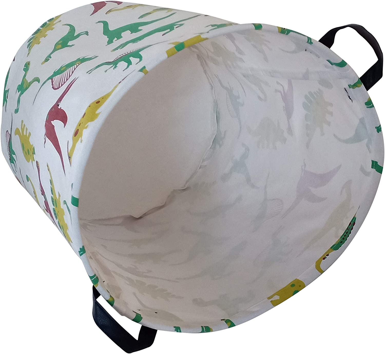 Deer KUNRO Rectangular Canvas Storage Bin Waterproof Toy Organizer with Handles for Organizing Shelf Nursery Home Closet,Kids Toy /& Laundry,Gift Baskets