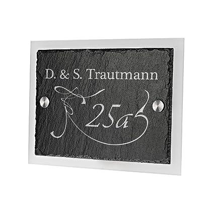 Número de casa señal de puerta nombre placa de pizarra con ...