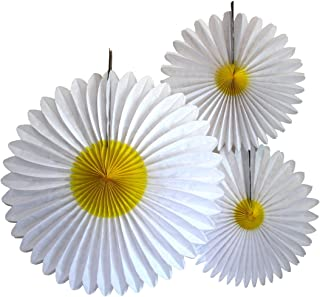 product image for 3-Piece Daisy Flower Fan Decorations (13-20 Inch)
