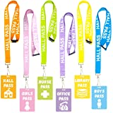 Colorful Hall Pass Lanyards Lanyard and School