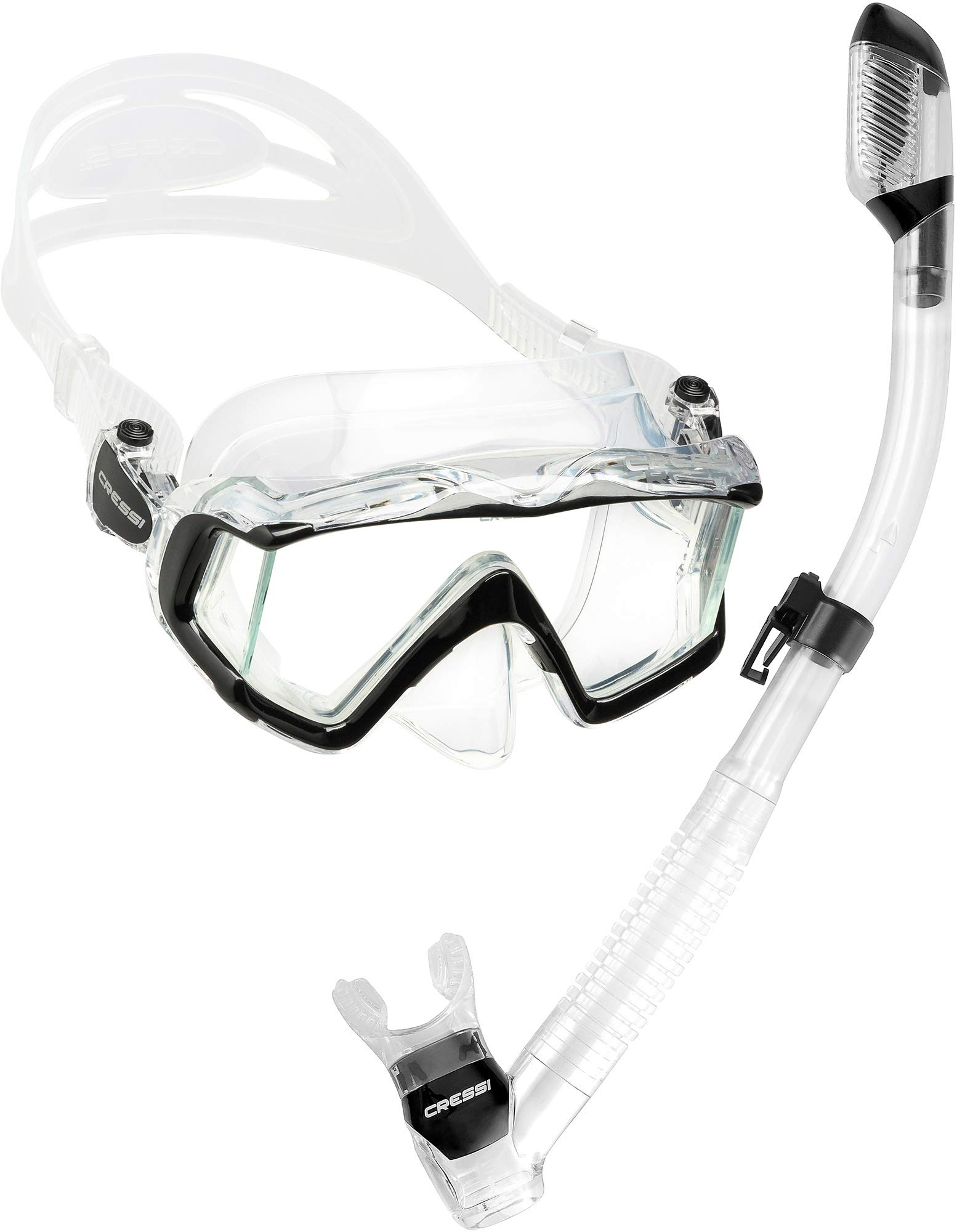 Cressi Pano 3 & Supernova Dry Combo, Clear/Black by Cressi