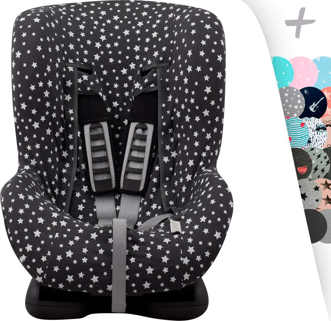 JANABEBE Funda universal para silla de coche grupo 1, 2 y 3 (WINTER SKY)