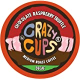 Crazy Cups Flavored Decaf Coffee, for the Keurig K Cups Coffee 2.0 Brewers, Decaf Chocolate Raspberry Truffle, 22 Count