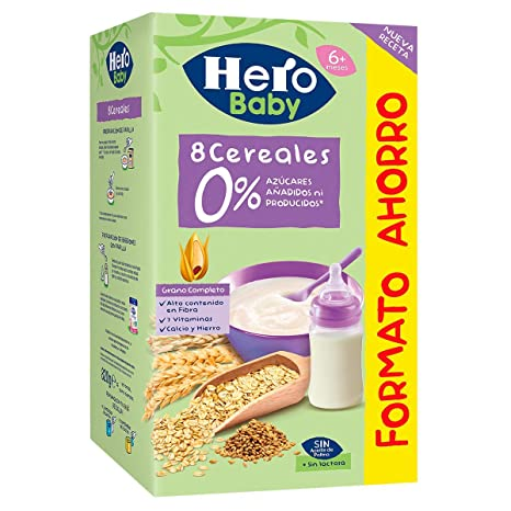 Hero Baby - Natur Papilla Multicereales - 820 gr: Amazon.es ...