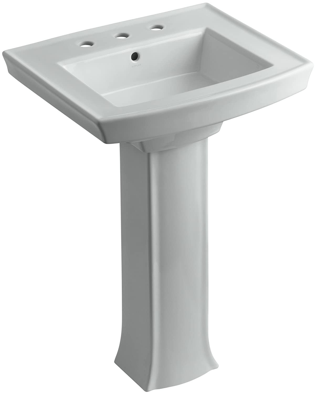 KOHLER K-2359-8-0 Archer Pedestal Bathroom Sink with 8-Inch Centers ...