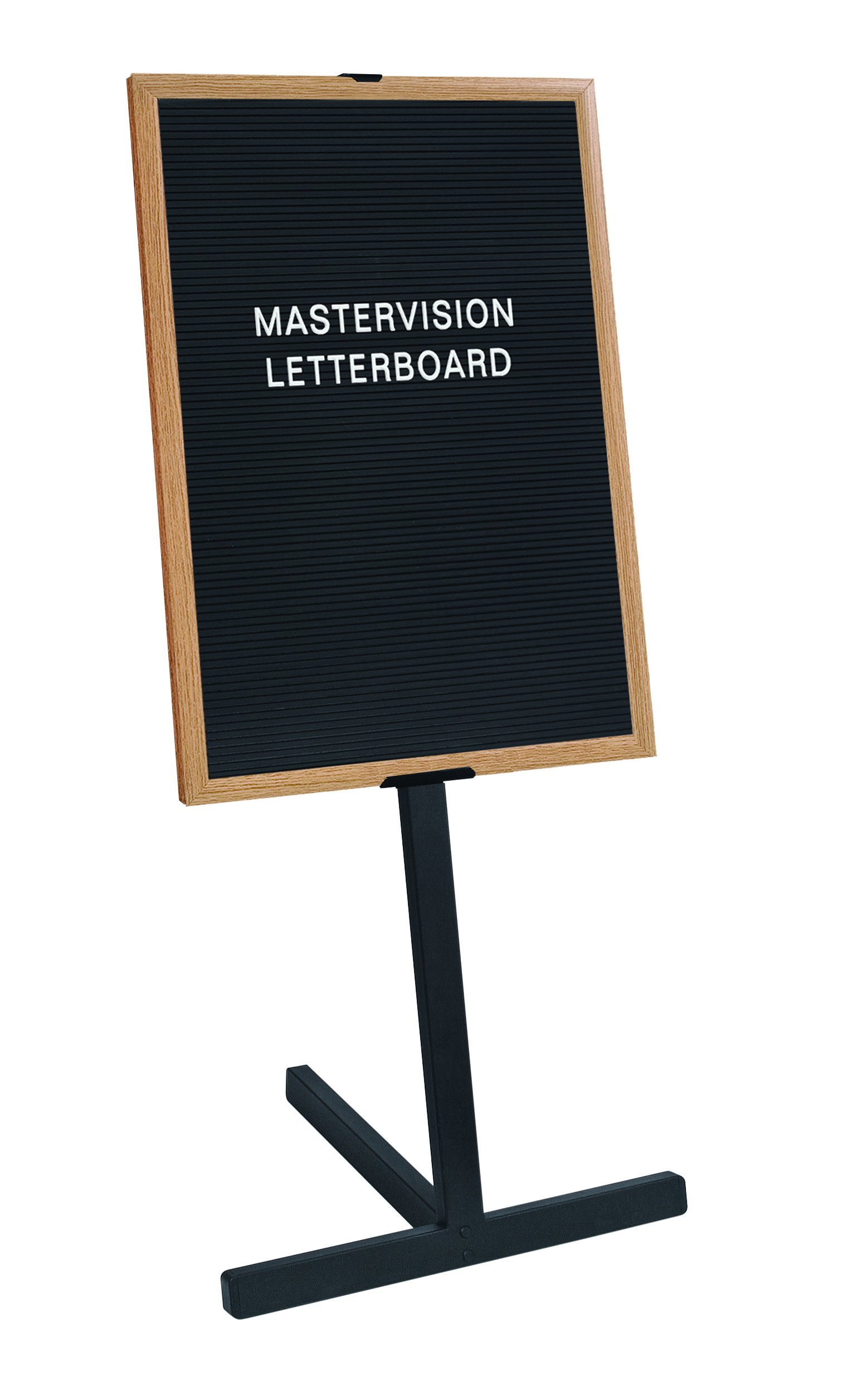 MasterVision Letterboard Stand, 24'' x 38'', Beech Wood Frame