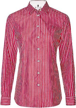 Tommy Hilfiger Sonya Shirt LS W2 Camisa, Rosa (Penny STP Ruby ...