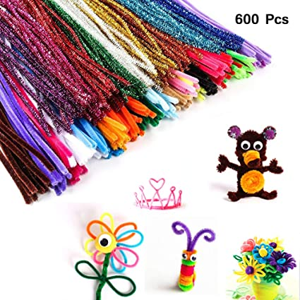 100pcs Twisting Rods Chenille Craft Stems Pipe Cleaners Kids Educational Toys HZ
