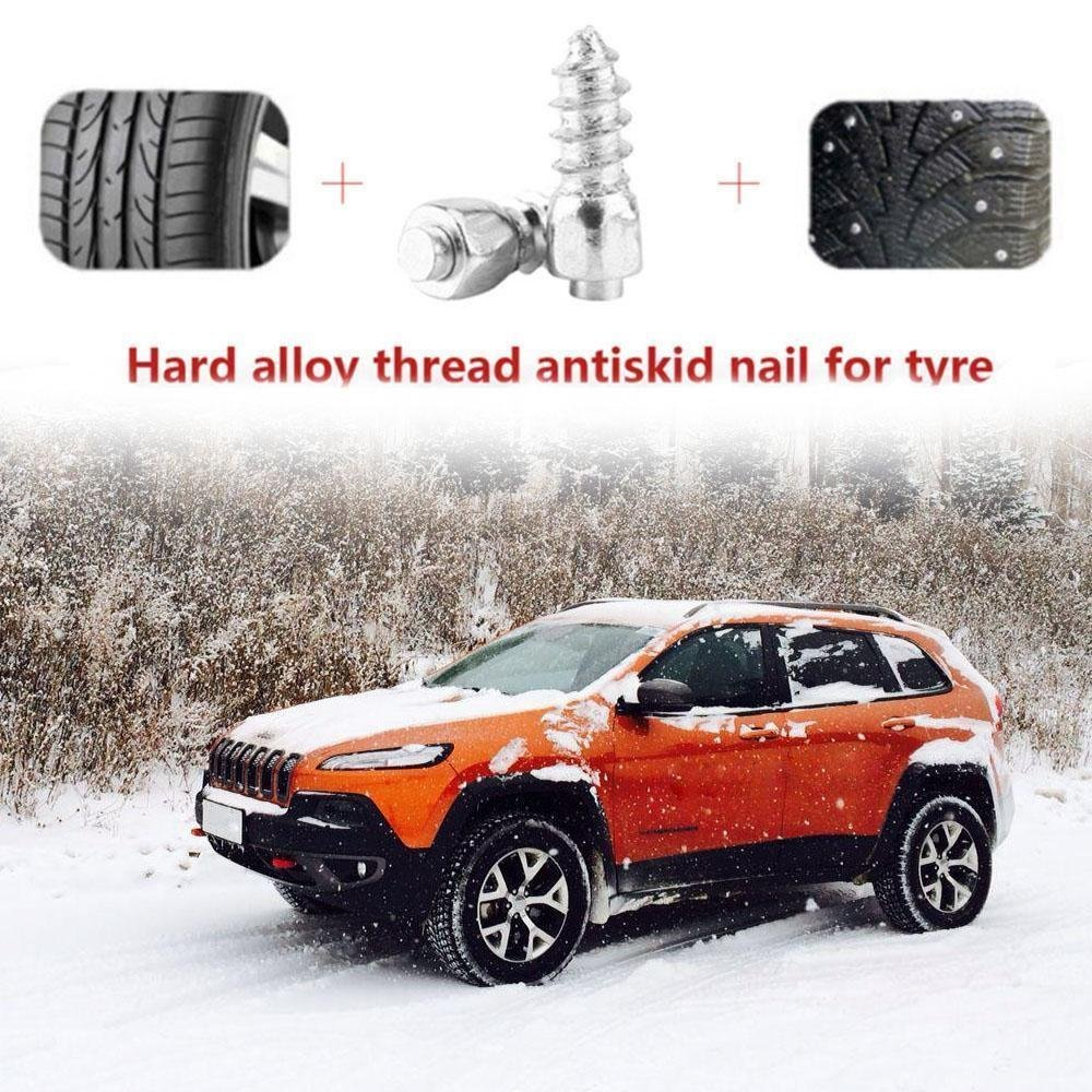 FidgetFidget Tire Spikes 100Pcs Wheel Tyre Snow Car Tires Studs Screw Anti-Slip Studded V5O0 by FidgetFidget (Image #3)