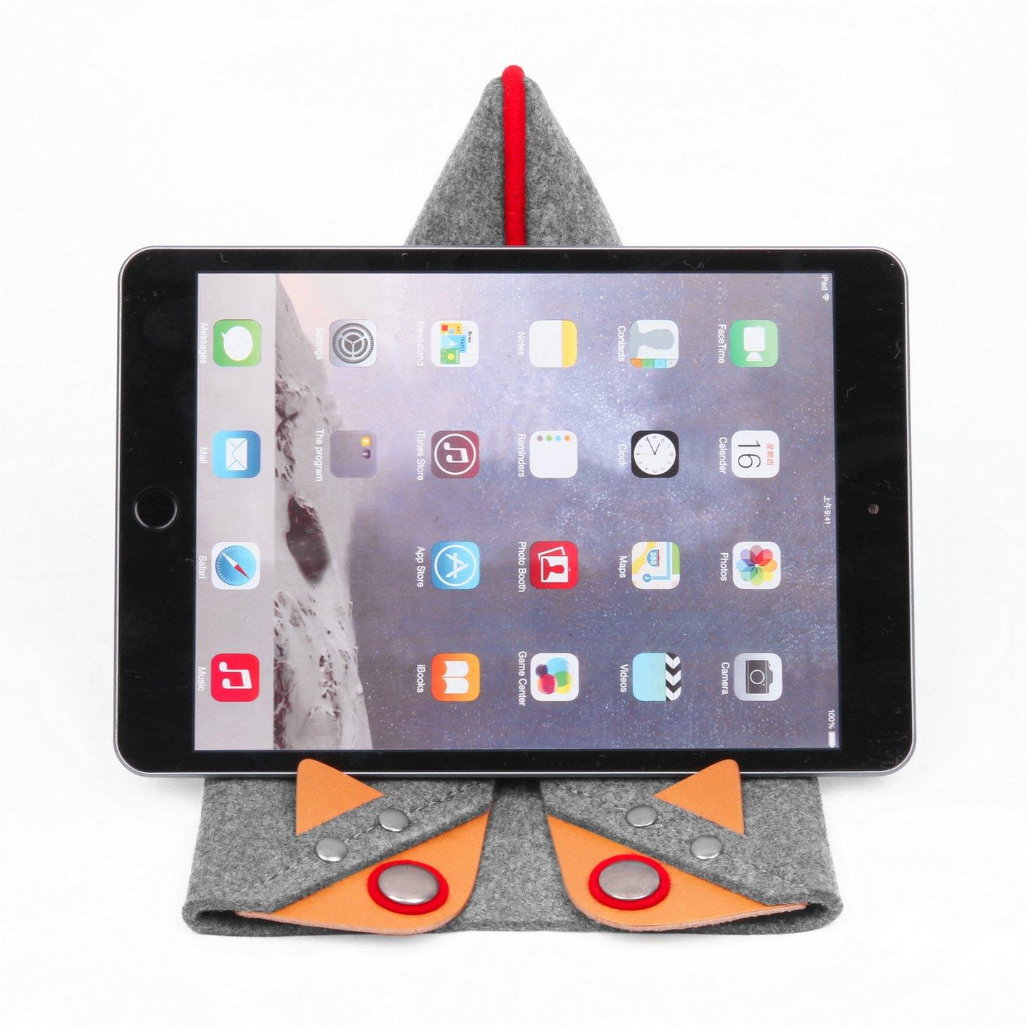 【おトク】 tophome iPad/ iPad miniケースタブレットスタンドiPadスリーブMade by 2 Genuineレザーとウールフェルトfor Apple iPad Mini 1/ 2/ 3、グレー B01I9DIE5M, エンジョイ特選館:82c1254f --- a0267596.xsph.ru