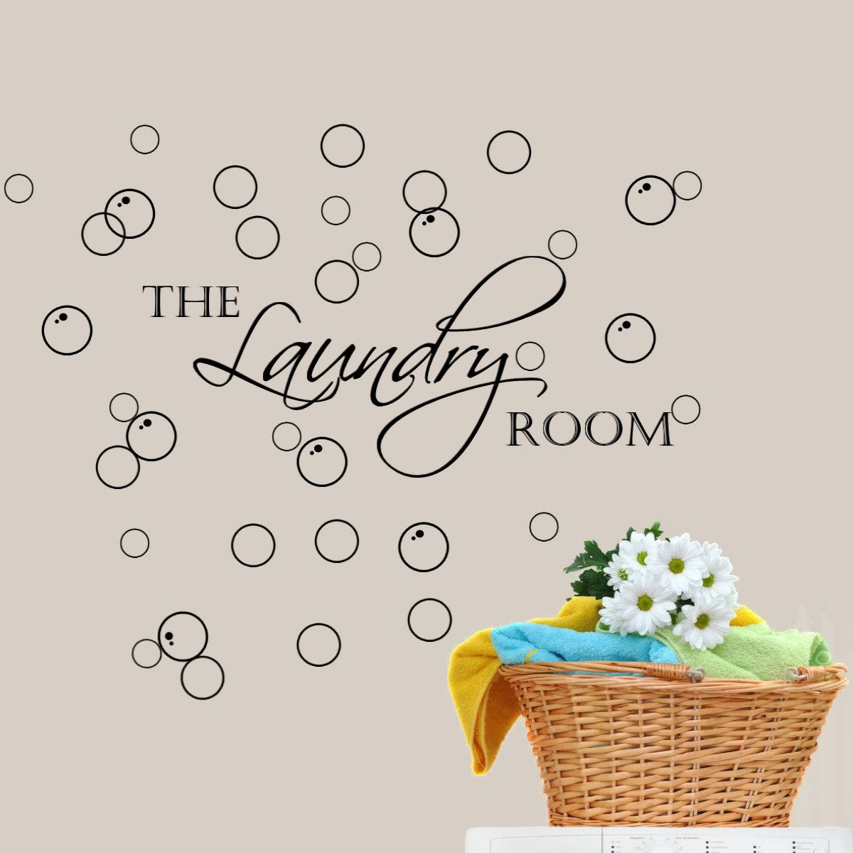 The laundry room laundry room with bubbles wall decal home decor the laundry room laundry room with bubbles wall decal home decor laundry room decor black amazon amipublicfo Images
