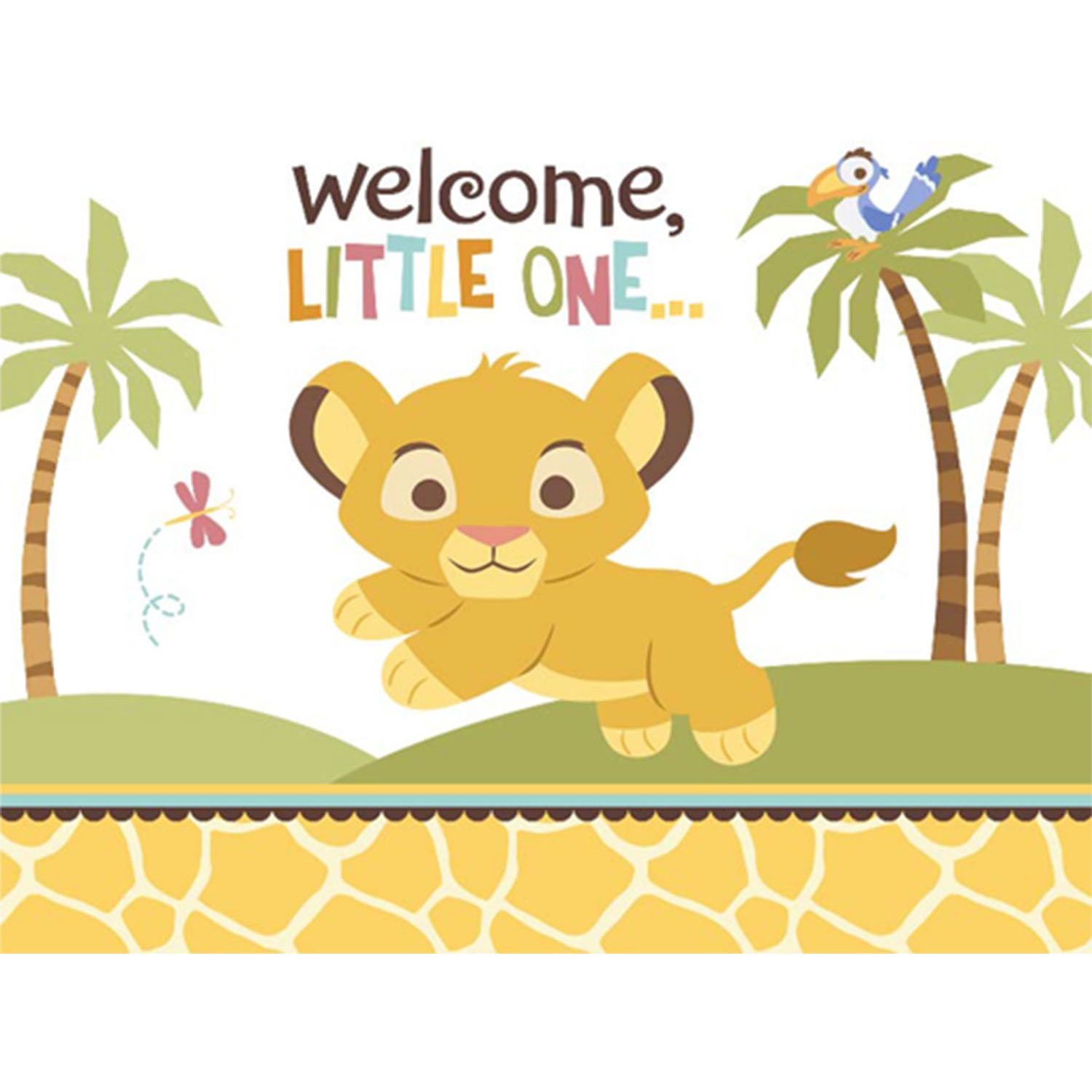 Amazon.com: Disney Lion King Baby Shower Invitations (8 count) Party ...