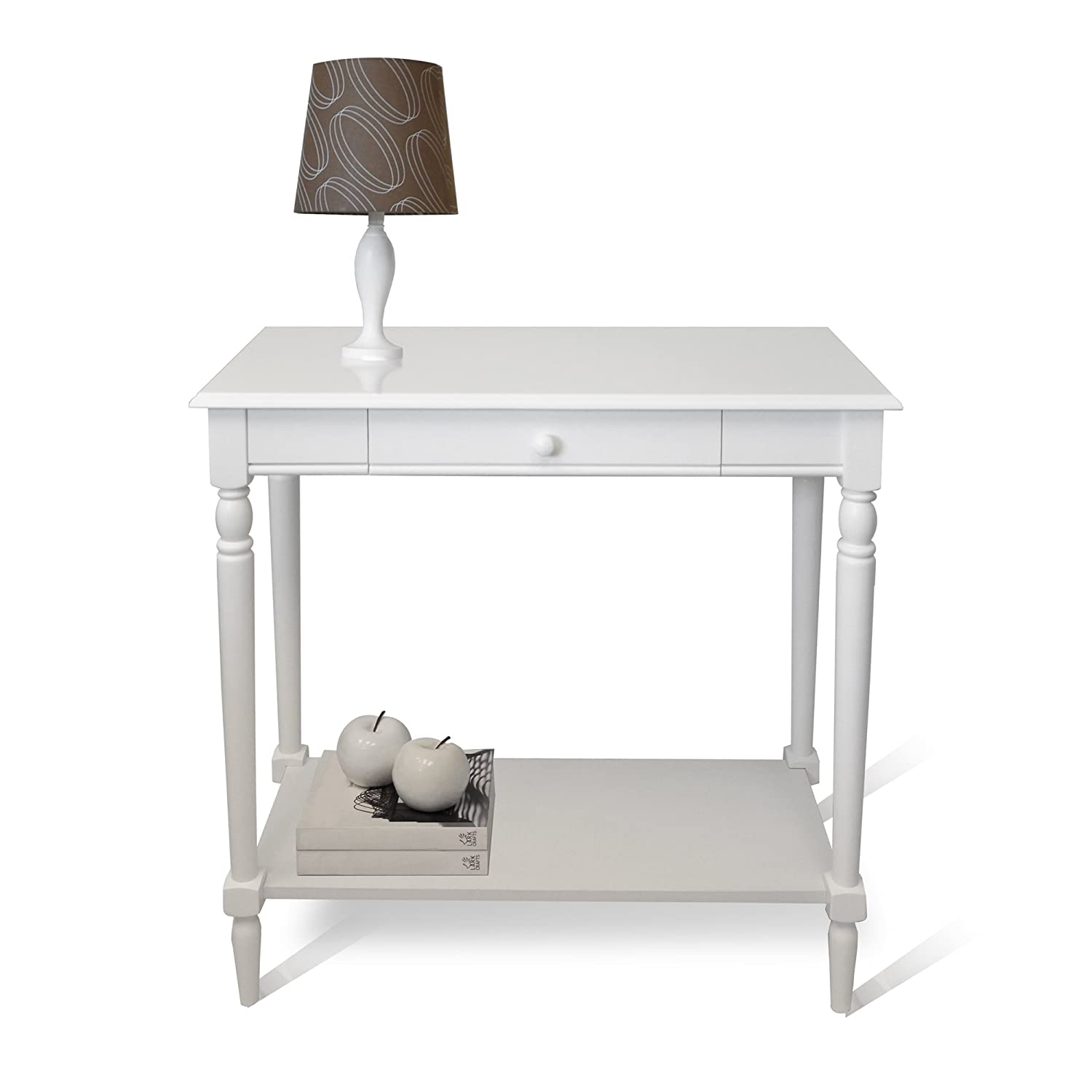 amazoncom convenience concepts french country hall table with drawer and shelf white kitchen u0026 dining - Cheap Console Tables
