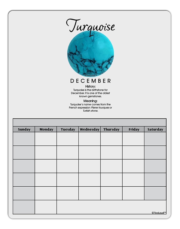 TooLoud Birthstone Turquoise Blank Calendar Dry Erase Board