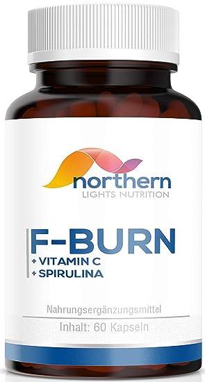 Abnehmen – Fatburner von N.L Nutrition – Hochdosiert – 60 Kapseln – Vitamin C, Ingwer, Spirulina und Löwenzahn – Hergestellt